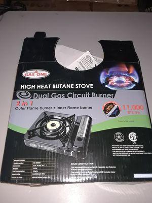 Portable stove with butane