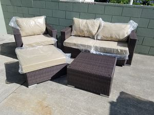 patio couch set. Open Box 4pc Outdoor Patio Furniture Seating Set Couch