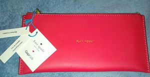 NWT Auth Kate Spade Red Leather Pencil Case