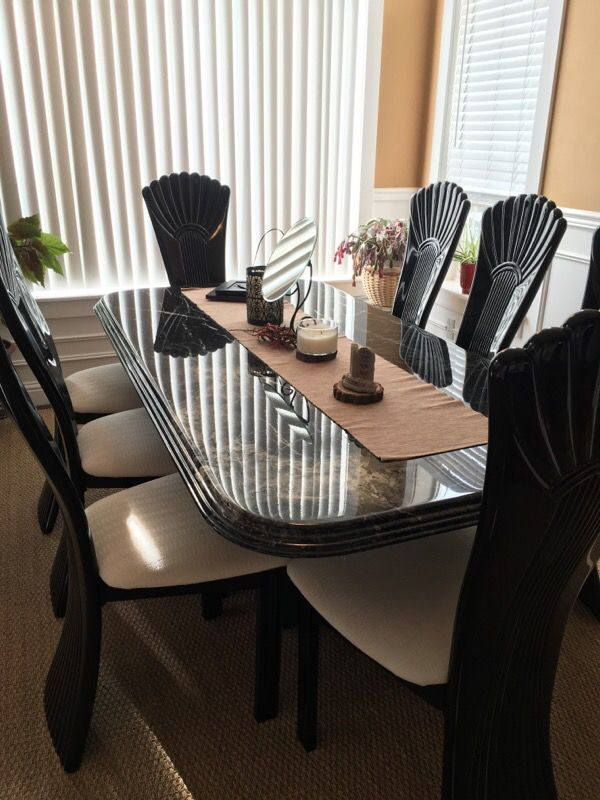 Marble dining table w 8 chairs Furniture in Auburn WA  : 7e6179be088c445992e6e732f25b4498 from offerup.com size 600 x 800 jpeg 81kB