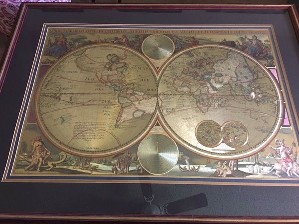 Double hemisphere gold foil world map collectibles in deerfield double hemisphere gold foil world map collectibles in deerfield beach fl gumiabroncs Gallery