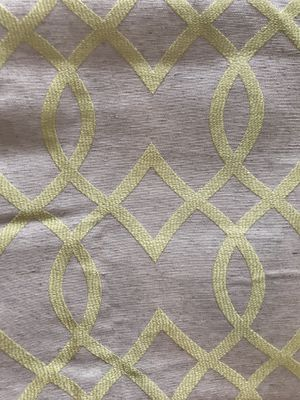 """Embroidered Linen Draperies - 48""""x96"""" - Lined (1 pair)"""