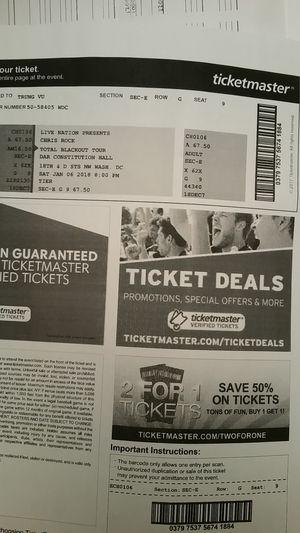 Chris Rock's ticket
