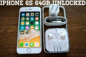 Iphone 6S 64GB UNLOCKED w/ Apple Accessories (Silver)