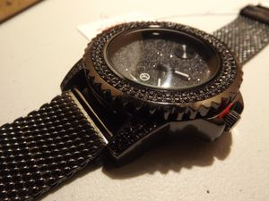 Brand new! Black Iced Chain Mail Watch