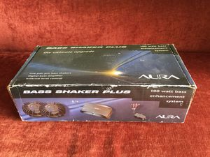 Aura Bass Shaker Plus 100 watt Bass Enhancement System New