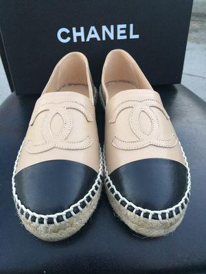 Chanel Espadrilles US 8 Beige/Black