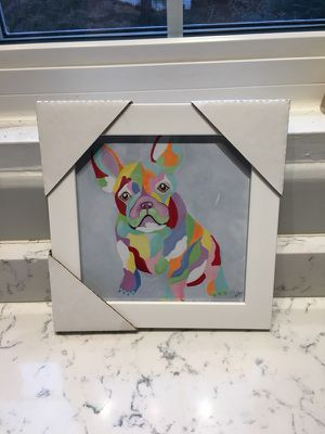 French bulldog framed picture