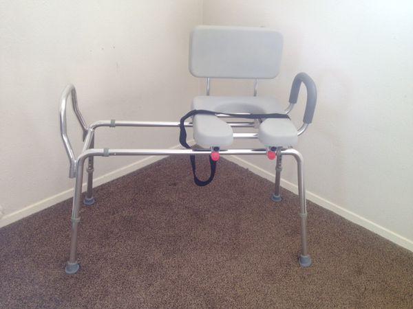 New Eagle Sliding Geriatric Commode Toilet Shower Transfer Bench ...