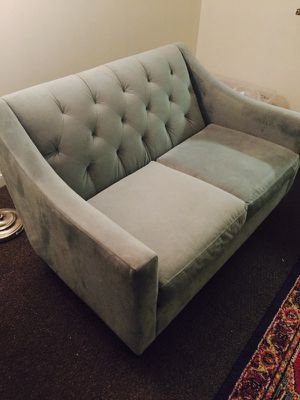 Light turquoise sofa