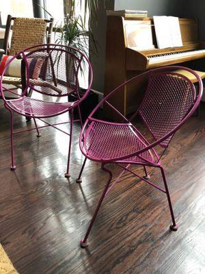 Vintage Salterini Radar chairs in rare orchid color