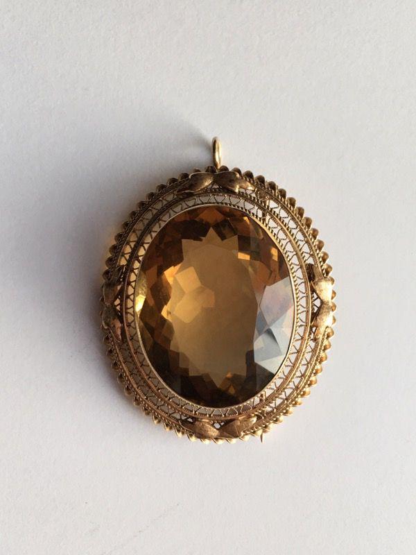 14k brooch/pendant