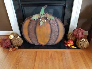 Three Harvest Pumpkins with Berries