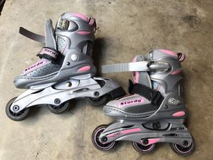 Girl line skaters