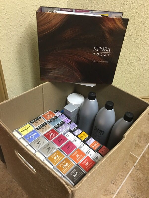 Box Of Kenra Hair Color Color Swatch Book Beauty Health In