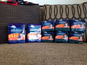 8 Packs of Always Pads. Please See All The Pictures and Read the description