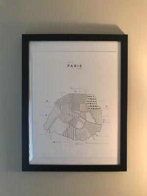 Paris map with copper print
