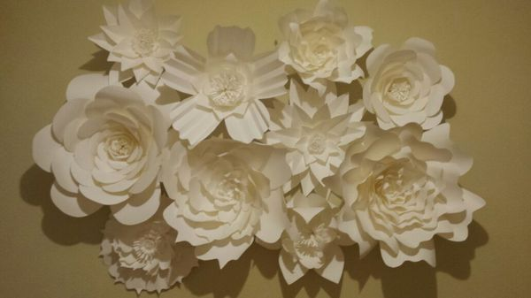 Giant Paper Flower Wall Backdrop Wedding Party (Furniture) in ...