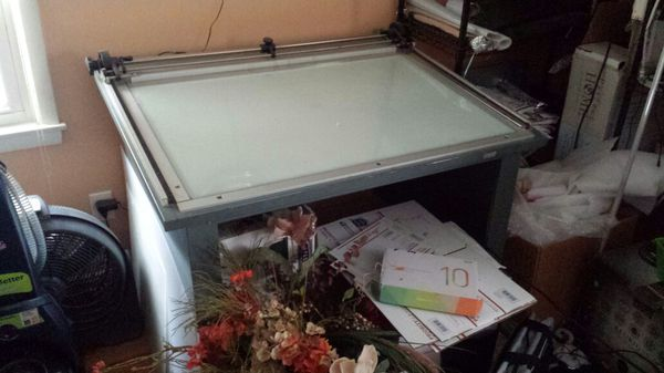 gallo lighted drafting table (arts & crafts) in cleveland, oh - offerup