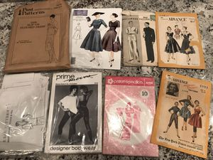 Vintage sewing patterns, hundreds available