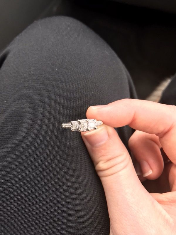 Engagement Ring includes receipt paperwork and proof of insurance