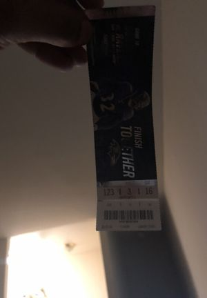 Ravens tickets for tomorrow lower level