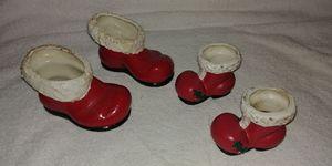 Vintage Mr and Mrs 🎅 Ceramic Shoes