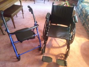 Wheelchair and rollator. Barely used.