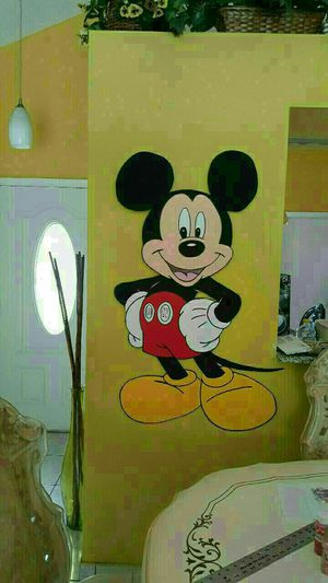 4ft tall wooden mickey mouse party props