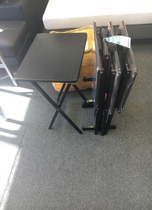 Nested set tray folding tables