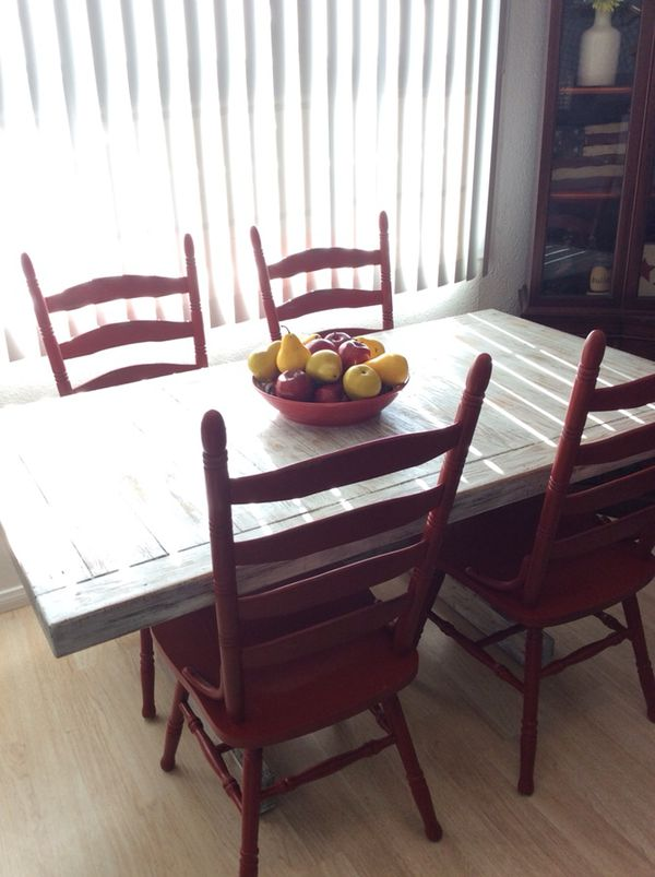Custom Made Rustic Farmhouse Dining Room Table And Chairs Furniture In San Diego CA
