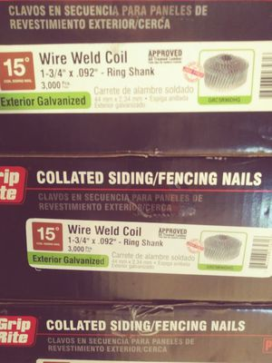 Grip Rite collated siding fencing nails