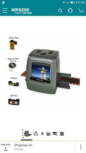 Brand new agnasonic All-In-One High Resolution 22MP Film Scanner, Converts 126KPK/135/110/Super 8 Films, Slides, Negatives into Digital Photos