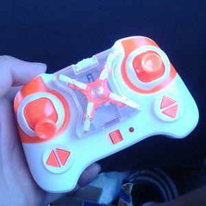 orange mini drone