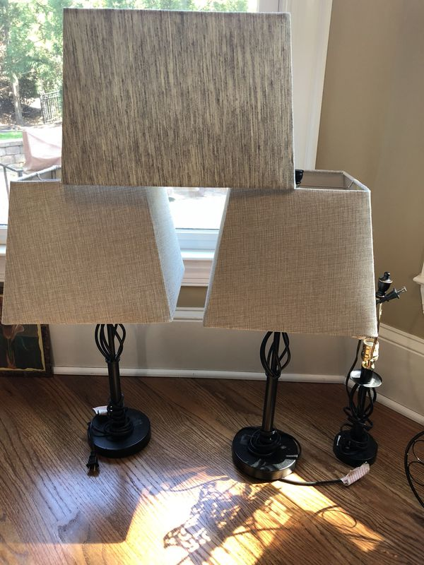 4 lamp shades household in charlotte nc offerup 4 lamp shades mozeypictures Image collections