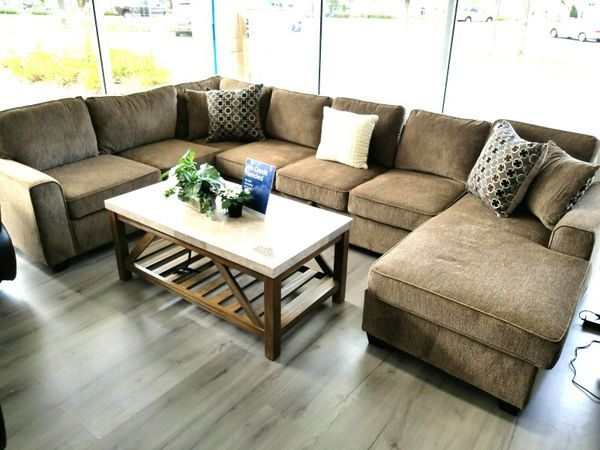 FREE DELIVERY Nice NEW U Shape Sectional Sofa STORAGE WE FINANCE - Buy a sofa on finance
