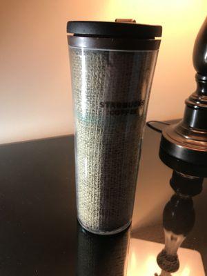 2010 Starbucks Burlap Coffee Mug Special Edition