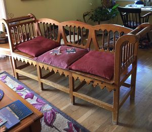 Spanish Style wood bench