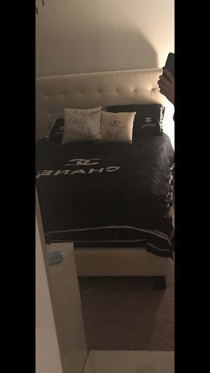 Bed. Frame mattress foundation