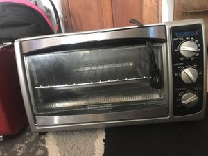 Black An decker toaster oven