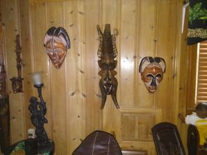 Two large African mask