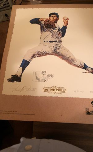 "HOF Sandy Koufax Limited Edition ""On One Field"" Print! 24""High x 20"" Wide, #16 of 1000"
