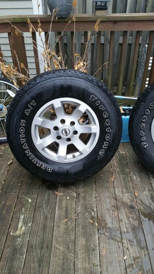 FIRESTONE TIRES AND RIMS