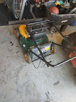 Push mower with bag