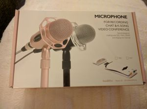Microphone for video conferencing and voice recording