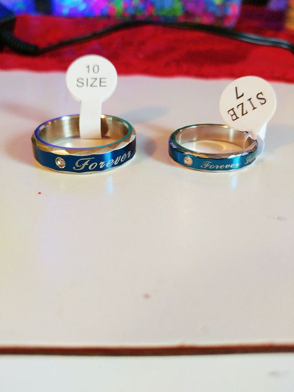 Blue titanium couples rings (Cell Phones) in Klamath Falls, OR - OfferUp
