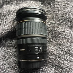 Canon ef-s 17-55mm lens 2.8is usm + tiffen 77mm uv filter + front/rear caps