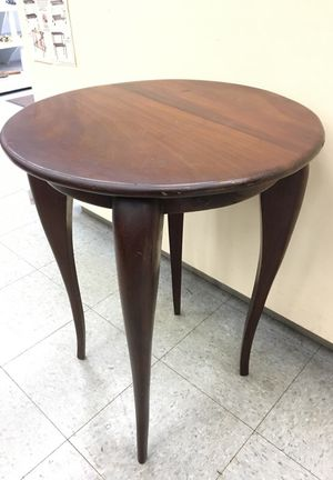 Round occasional mahogany table