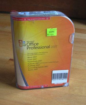 MS Office Professional 2007 Software Word Excel PowerPoint Outlook