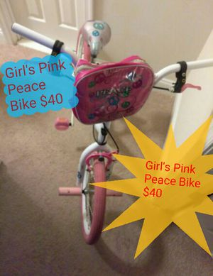 Girls pink Peace Bike